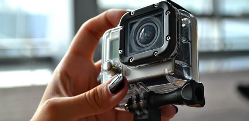Close Up Of Go Pro Lens
