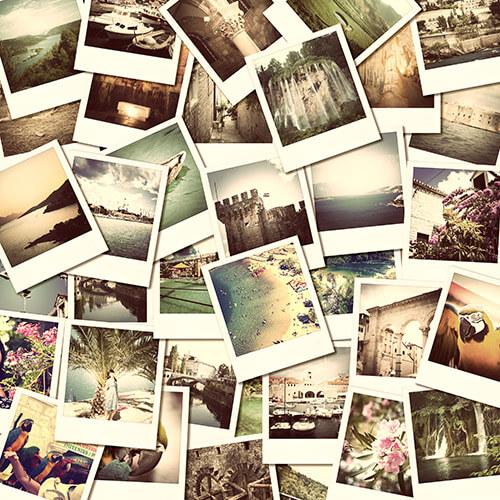 Pile Of Polaroid Photos