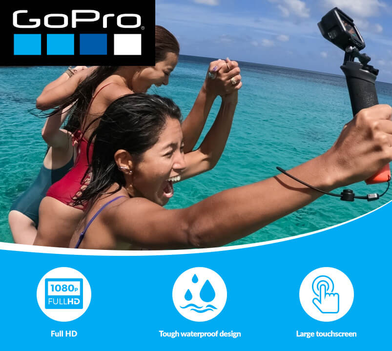 Group Of Girls In Sea With GoPro
