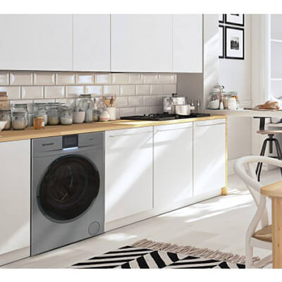 Sharp Washing Machine In Kitchen