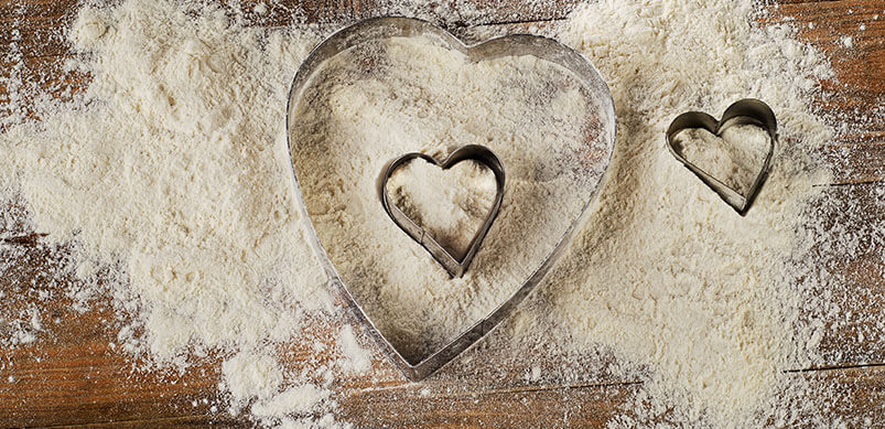 Heart Shaped Cookie Cutters In Flour
