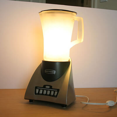 Lit Up Blender With Bulb Inside