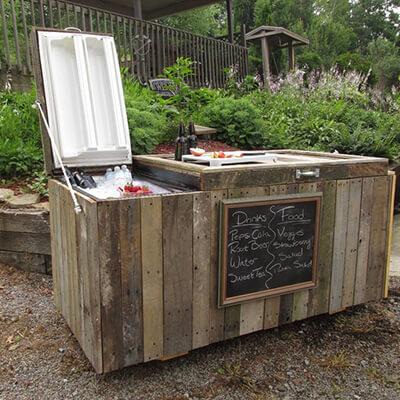 Outside Drinks Cooler Made From Broken Fridge