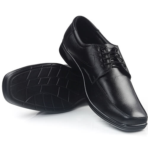 Black Shiny Shoes On White Background