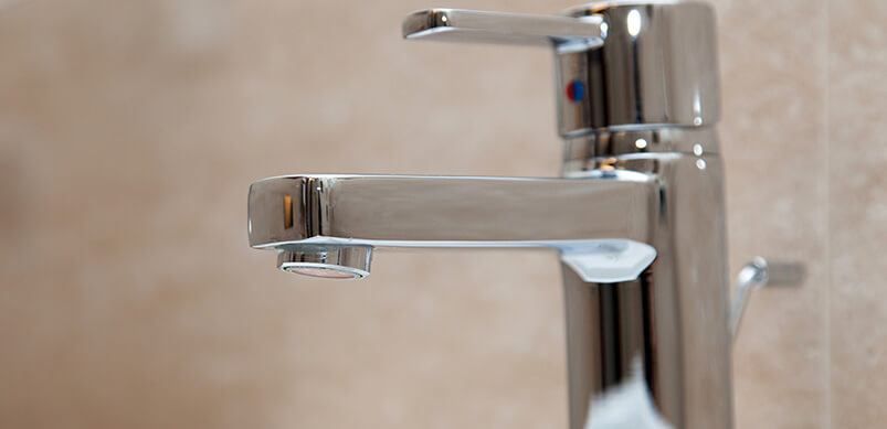 Close Up On Chrome Taps