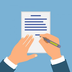 Animation Of Hands Signing Document