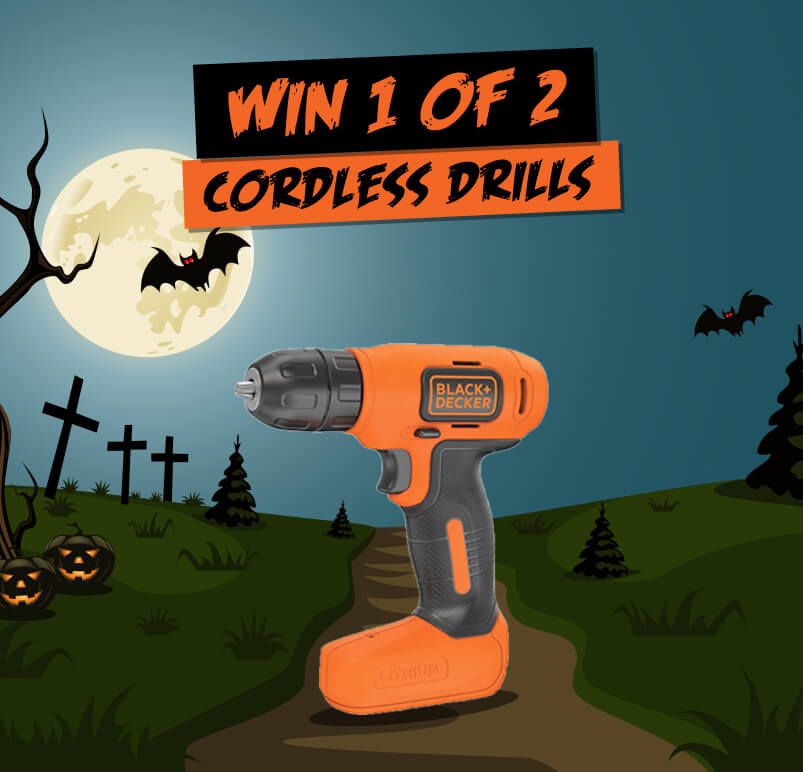 Halloween Themed Competition Poster With Black & Decker Drills