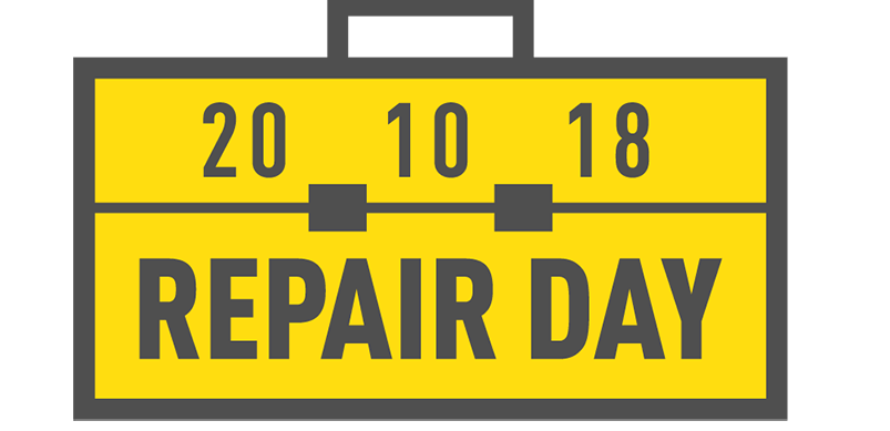 Repair Day Logo With Date