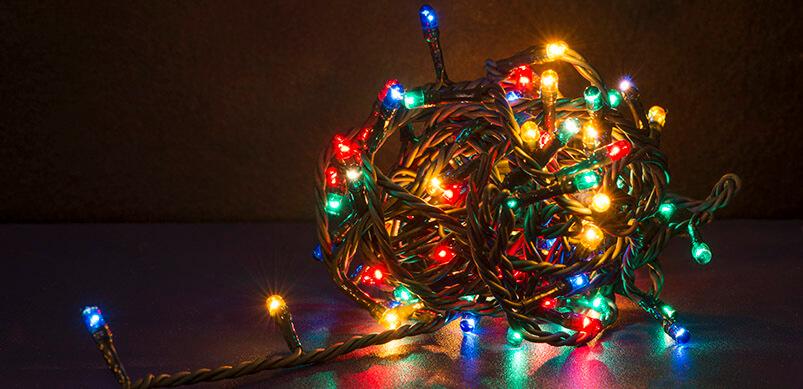 Ball Of Tangled Christmas Lights