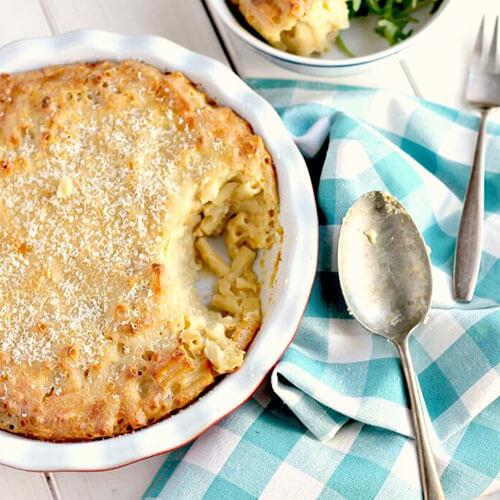 Leftover Cheeseboard Macaroni Bake