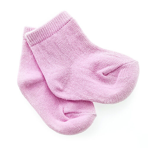 Pair Of Pink Baby Girl Socks