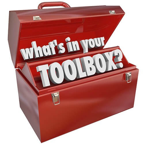 Open Red Toolbox Containing words What's In Your Toolbox