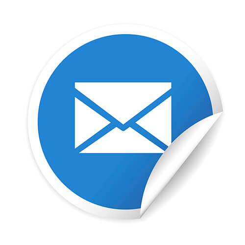 Email Icon In Blue Circle