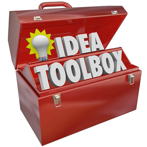 Open Red Toolbox Containing words Idea Toolbox