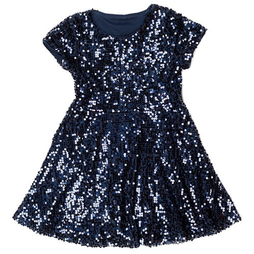 Blue Dress With Sequins