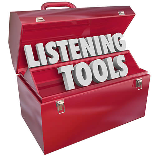 Open Red Toolbox Containing words Listening Tools