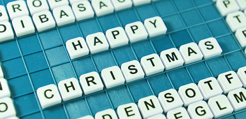 Merry Christmas Spelling Out Merry Christmas