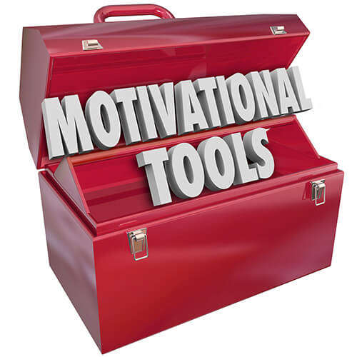 Open Red Toolbox Containing words Motivational Tools