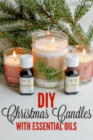 Frankincense And Pine Christmas Candles