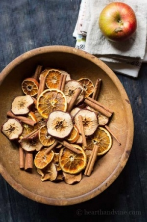 Orange Apple And Cinnamon Pot Pourri In Bowl