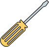 Simple Yellow Screwdriver Illustration