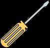 Simple Yellow Screwdriver Illustration