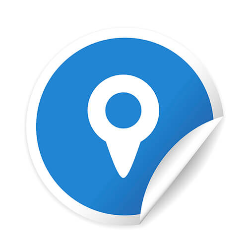 Location Icon In Blue Circle