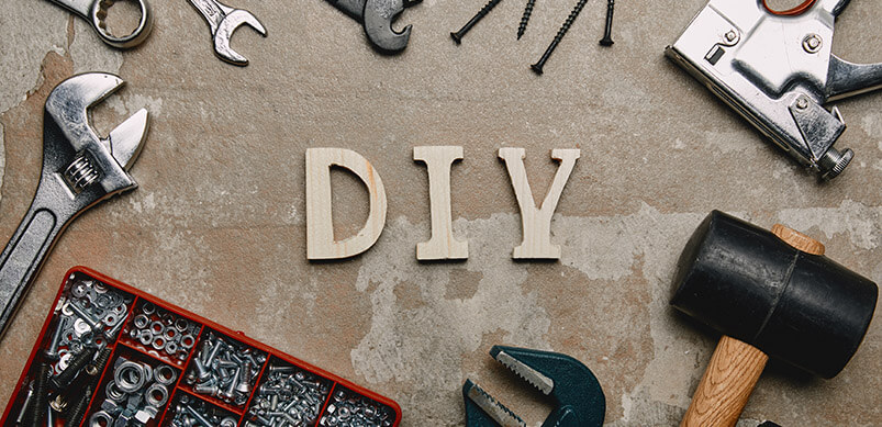 Letters DIY Surrounded By Tools