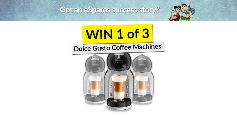 Image Of Coffee Machines With Win Banner