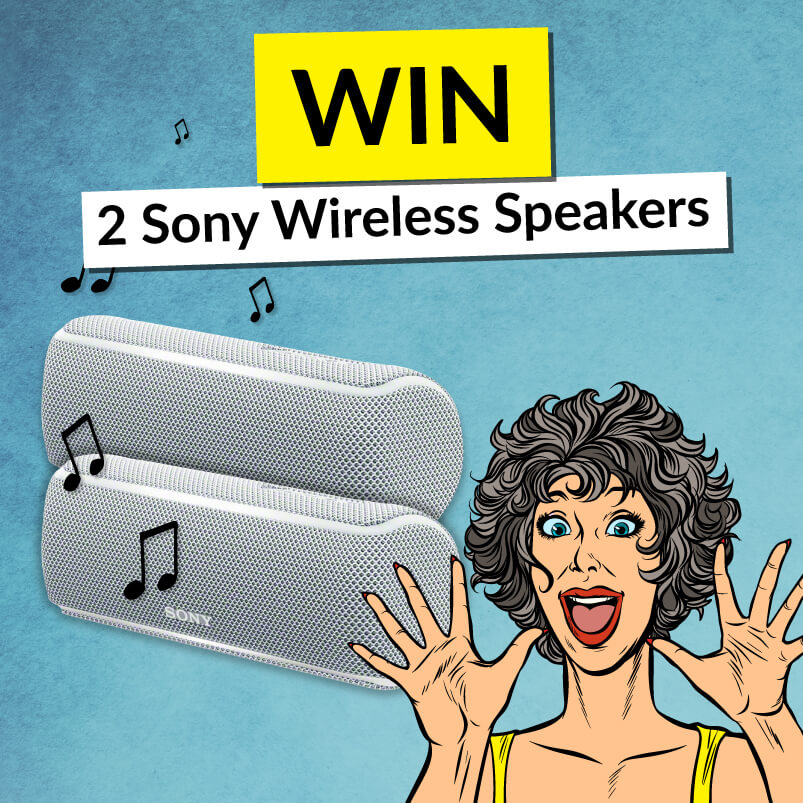 Sony Speakers With Win Banner