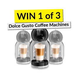 Win 1 of 3 Dolce Gusto Coffee Machines! [Competition closed]