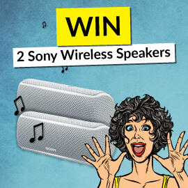 Win 2 Sony Wireless Speakers!
