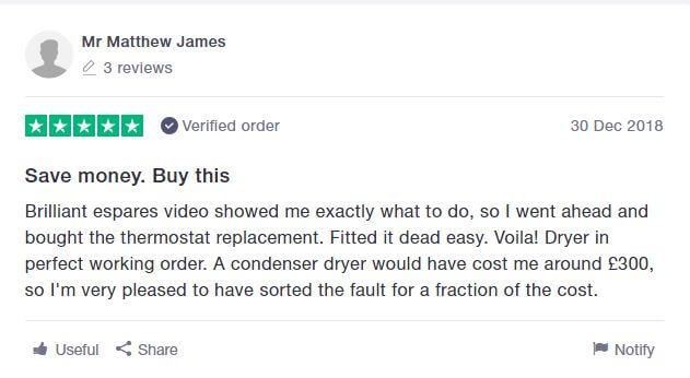 Trustpilot Customer Review Saving £300