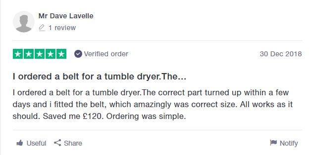Trustpilot Customer Review Saving £120