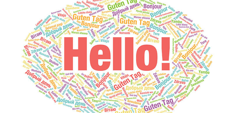 Speech Bubble With World Hello In Different Language