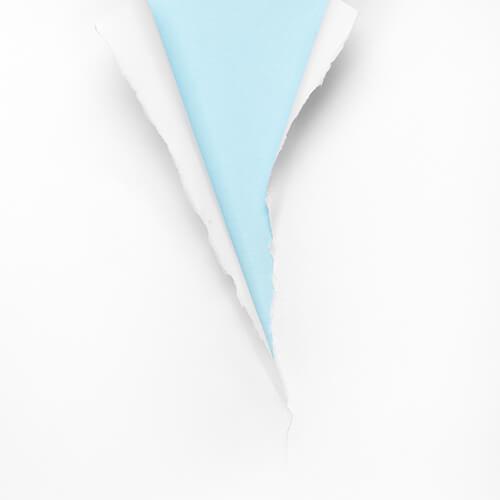 White Wallpaper Peeling Revealing Blue Wall