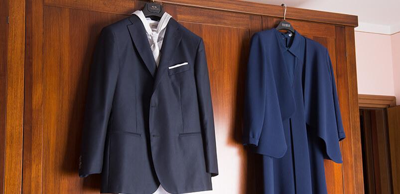 Smart Clothing Hanging On Wardrobe