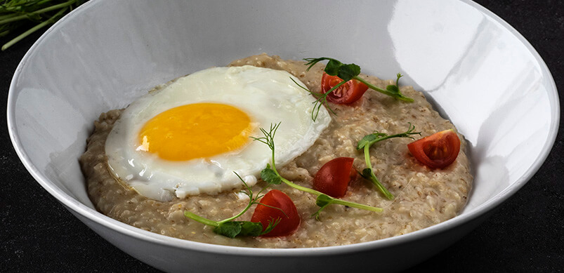 Bowl Of Eggs And Oatmeal