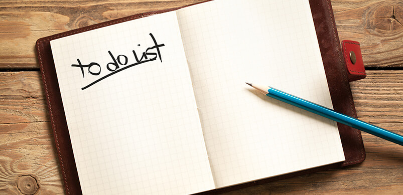 To Do List In Personal Organiser