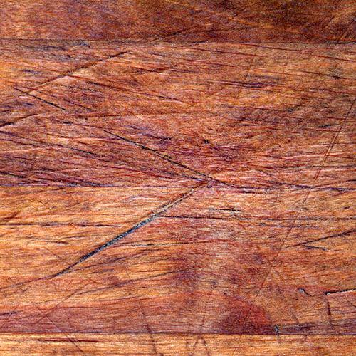 Wooden Furniture With Dark Scratches