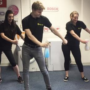 Espares Team Performing Exercise Routine