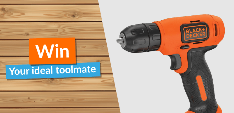 Black And Decker Drill With Win Banner