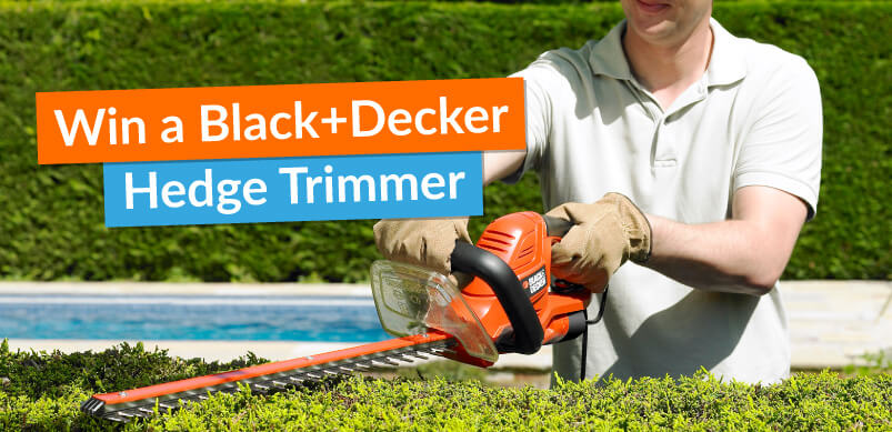 Hedge Trimmer With Win Banner
