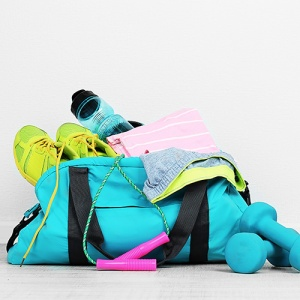 Sports Bag With Gym Equipment