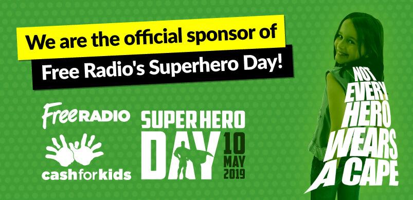 Espares Sponsoring Superhero Day Banner