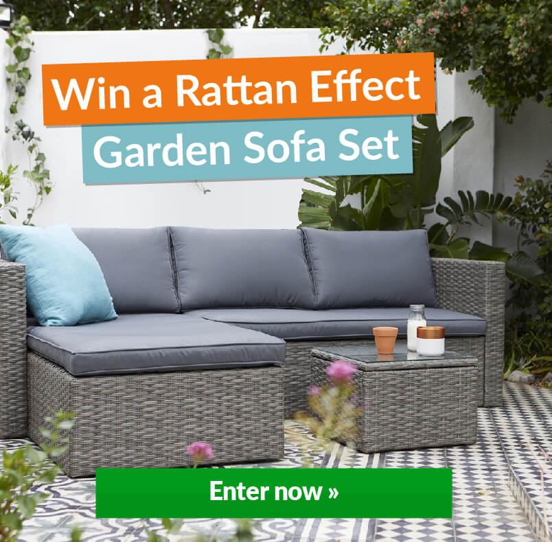 Garden Sofa Set With Win Banner