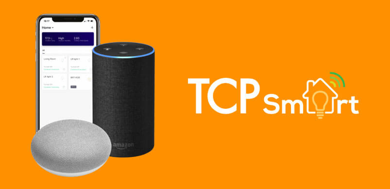 TCP Smart Logo With Phone, Alexa And Google Hub
