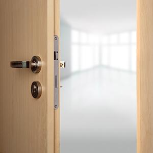 Wooden Door Slightly Ajar