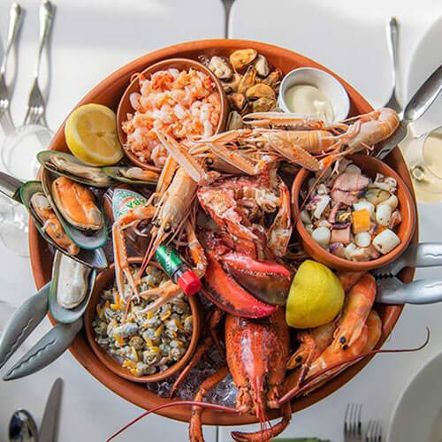 Seafood Platter At Champagne & Seafood Restaurant