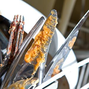 Dirty Cutlery In Dishwasher